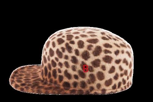 BATTER'S CAP - BAT-OCELOT RABBIT FUR FELT