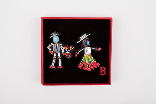 SOUTHERN COUPLE Brooches Blue