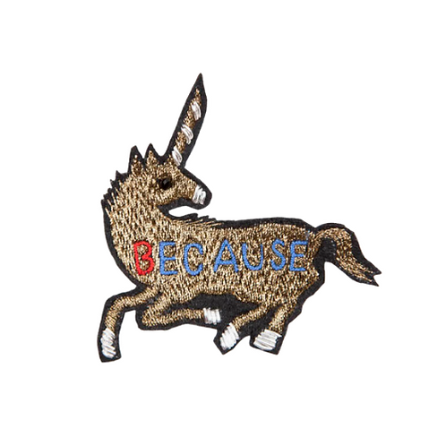 UNICORN Brooch Embroidery Gold