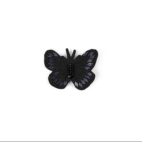 BUTTERFLY Brooch - Embroidery Black