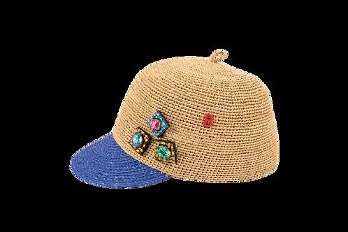 GRACE CAP Bi-weave  w/Handmade Embellishement
