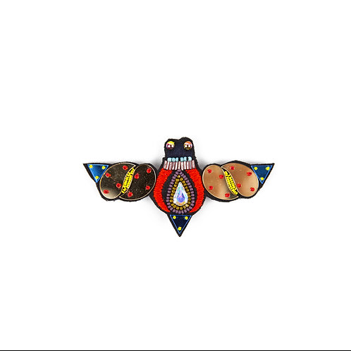 CIGALE Brooch - Embroidery Multi Colour