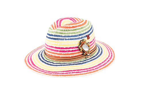 TUILERIES Cotton Hat w/Handmade Embellishement