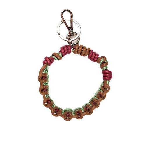 CELTIC KNOTS Key Ring - Burgundy & Brown
