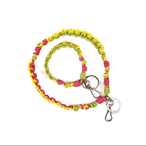CELTIC KNOTS Long Keyhanger- Mix Olive & Yellow
