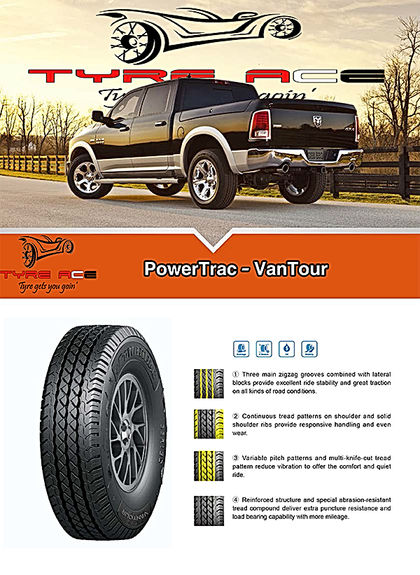Powertrac Commercial LT tyre with great wearing rate