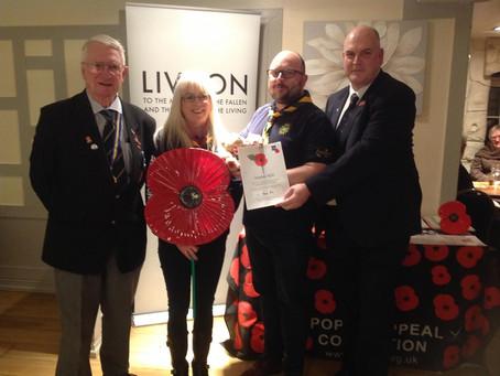 Royal British Legion Poppy Appeal: Recognition Award