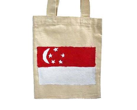 Painted Cloth Bag (National Flag)