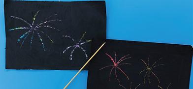 Fireworks Scratch Art
