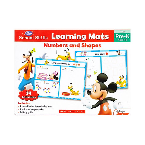 Learning Mats: Numbers and Shapes (Pre-K)