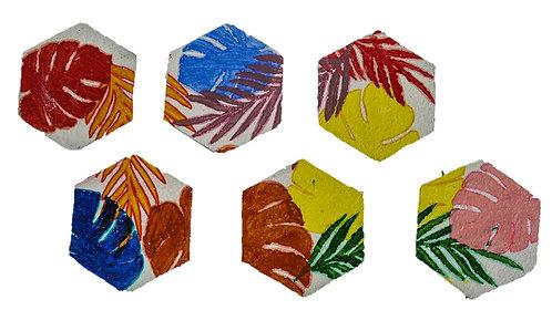 Foliage Hexagons (Set of 6 Coasters)