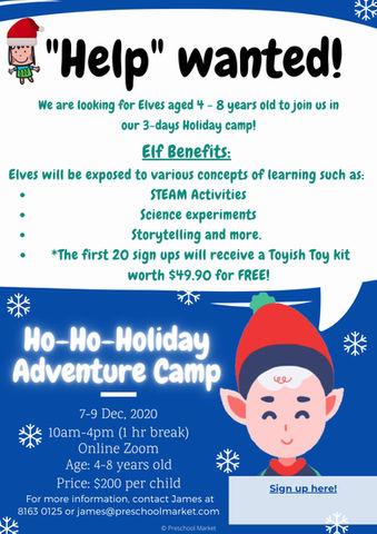 Ho-Ho-Holiday Adventure Camp!