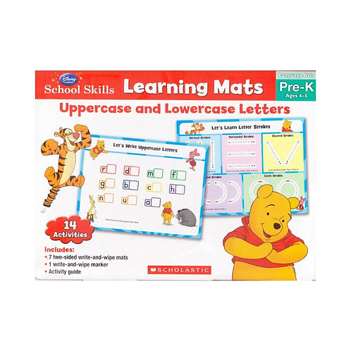 Learning Mats: Uppercase and Lowercase Letters box