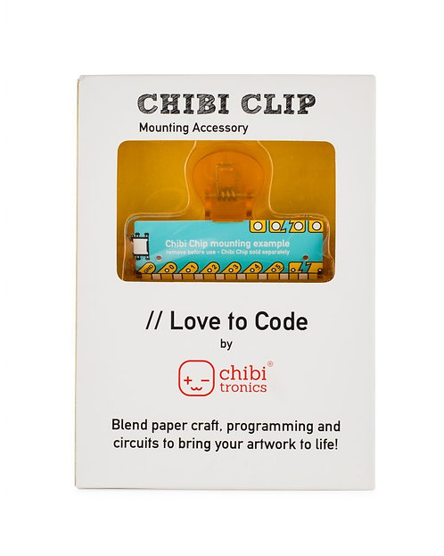 "CHIBI CLIP ""LOVE TO CODE"" FOR CIRCUIT STICKERS"