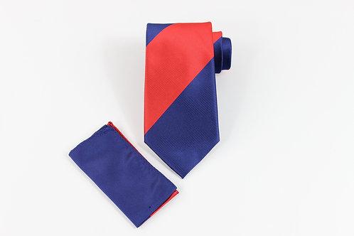 7 FOLD TIE RED/BLUE