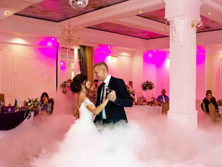 Первый свадебный танец. Эффектное решение-генератор дыма