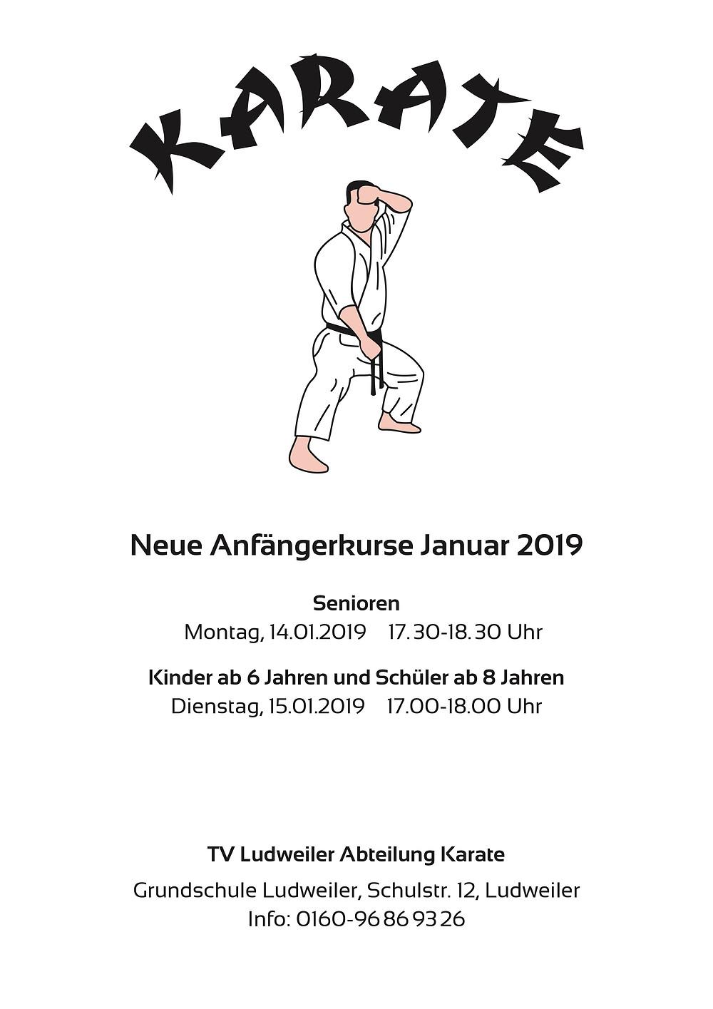 Karate Anfängerkurse 2019