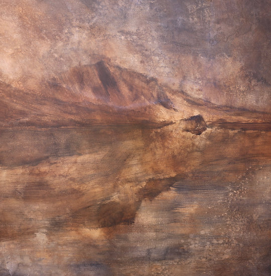 At the Foothills of Opposition, 30x30 inches