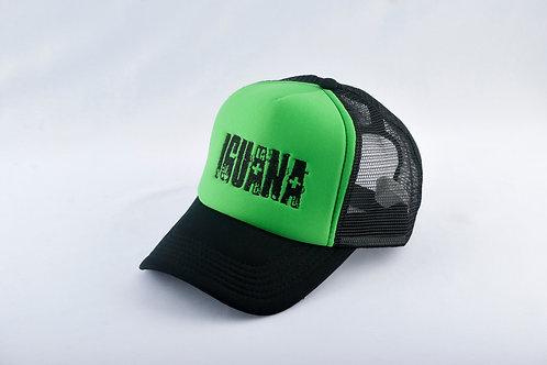 Gorra Negra Fondo Verde LA IGUANA