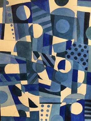 Small Fugue (Blue), 2019