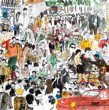 Drawings comics for Renoma Paris