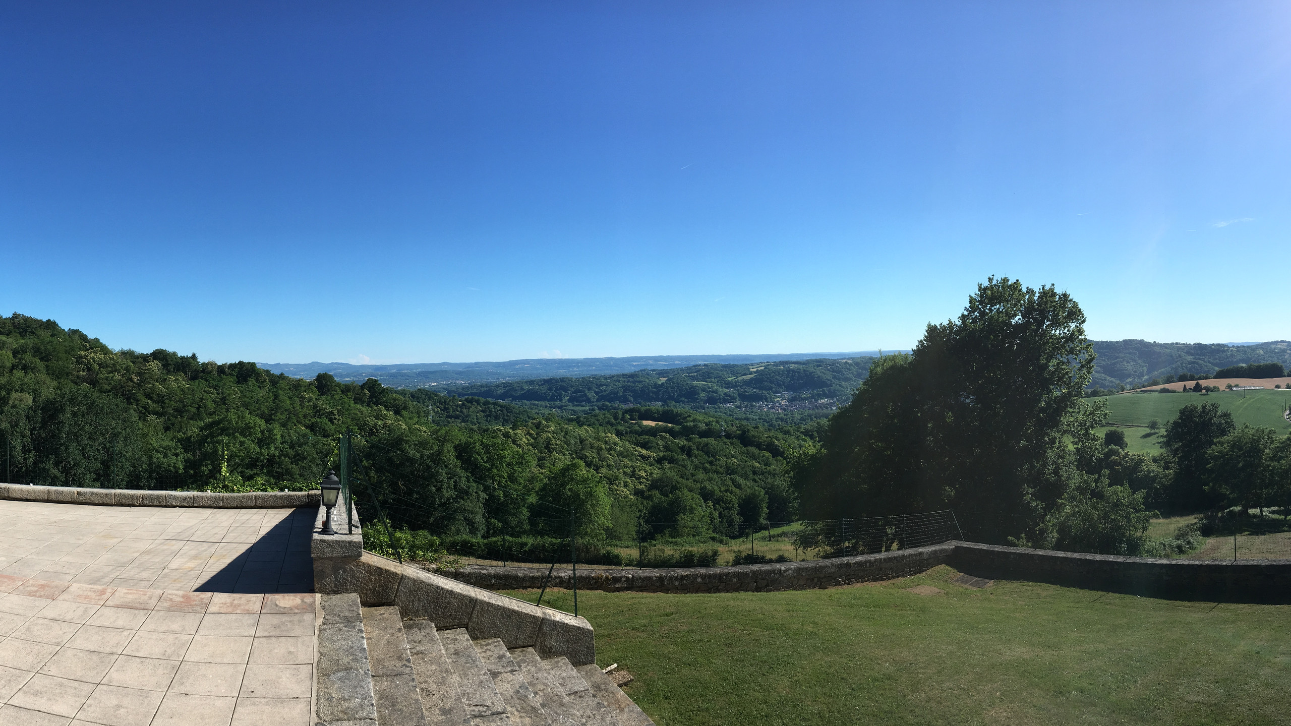 Stage view from Chateau du Doux