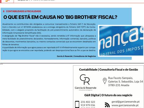 """O que está em causa no """"BIG BROTHER"""" fiscal?"""