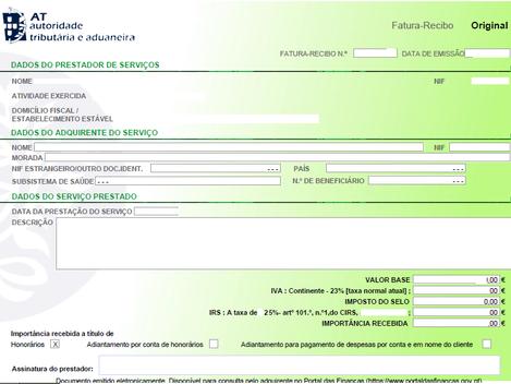 Recibos verdes: Despesas já podem ser justificadas no e-Fatura