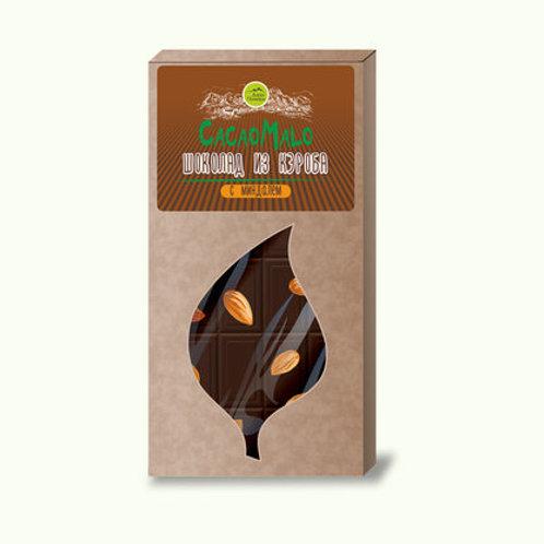 Шоколад из необжаренного кэроба с миндалем