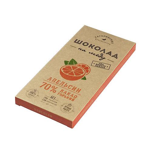 Шоколад на меду горький с апельсином