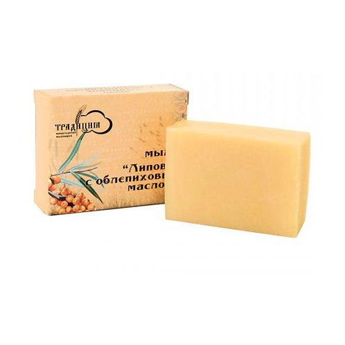 Мыло «Липовое с облепиховым маслом»