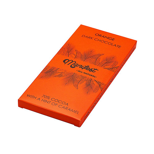 Шоколад на кокосовом сахаре горький с апельсином