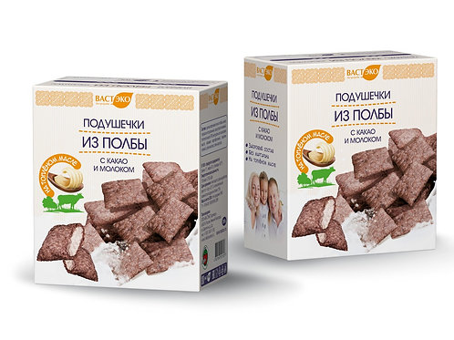 Подушечки из полбы с какао и молоком на топлёном масле