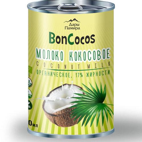 Молоко кокосовое органическое, BONCOCOS, жирность 17%