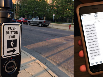 """Wisconsin Ave crosswalk sends text alerts whenever it says """"Walk Sign is On"""""""