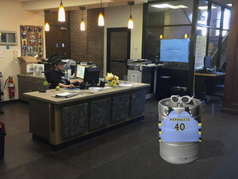 Cobeen DR fooled by keg dressed as student