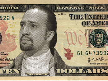 Man on Ten Dollar Bill missing his Goatee and Dark Hair