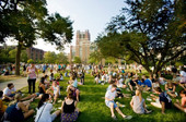 Warm weather beckons 8,000 students to emerge from sewers and hammock until September
