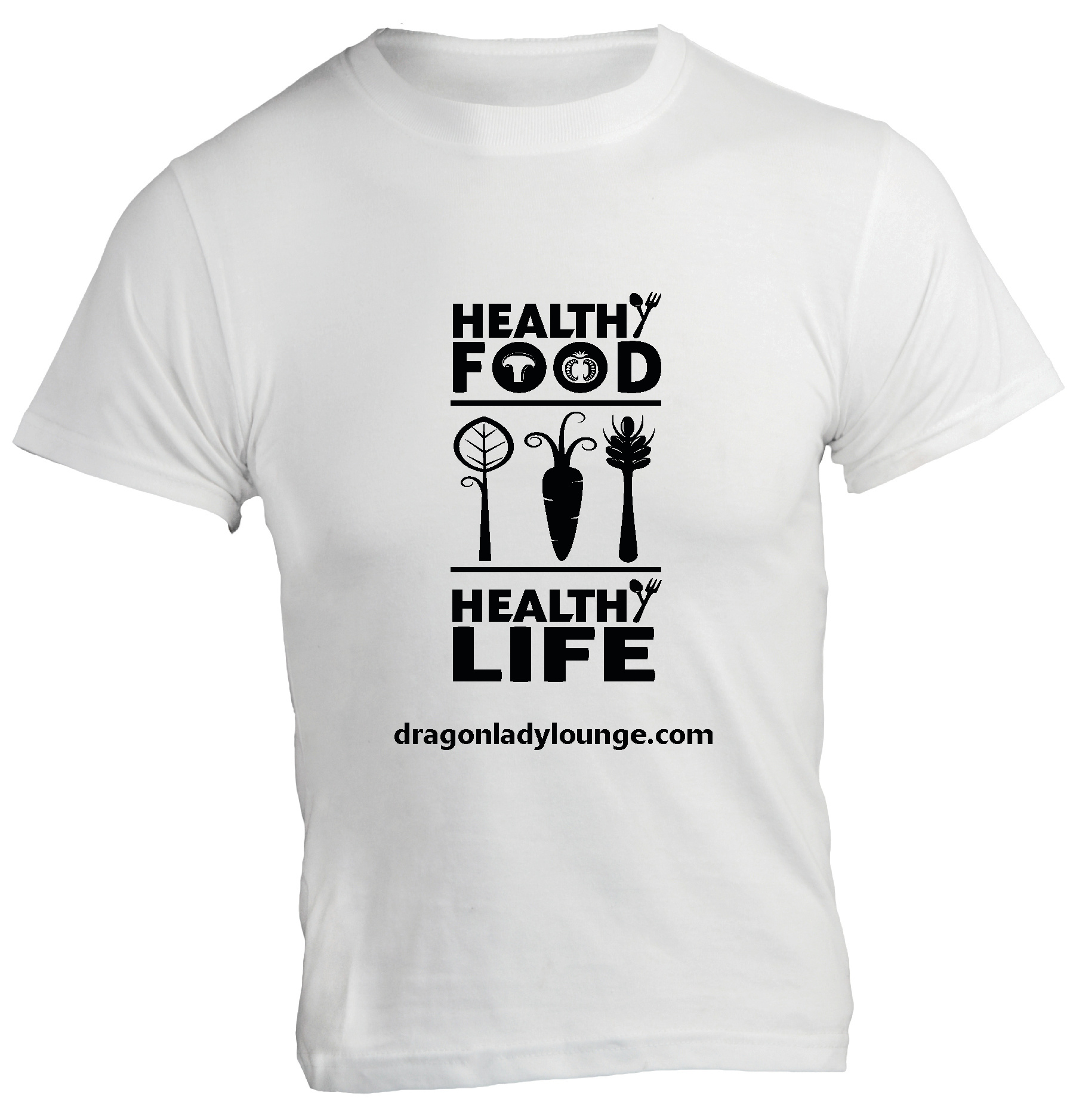 Healthy Food Life BW Shirt