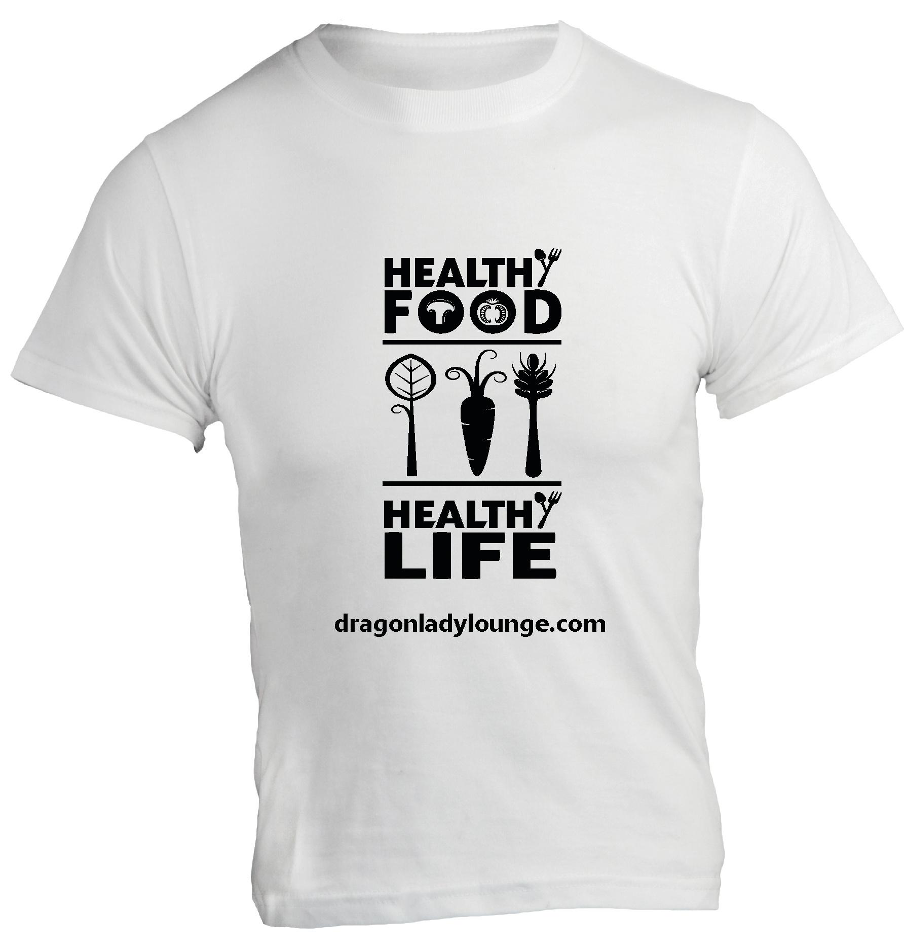 Healthy Food Life BW Shirt
