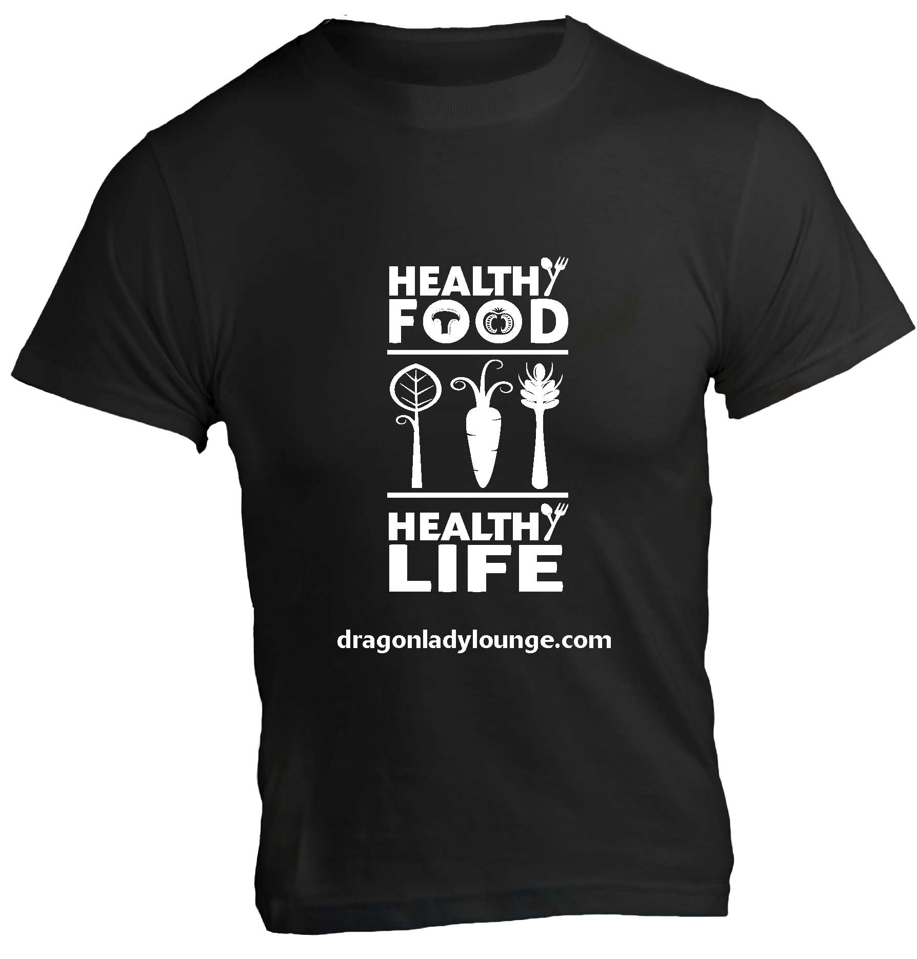 Healthy Food Life Shirt BW