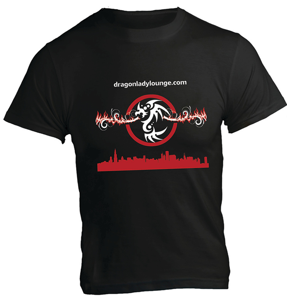 Dragon Lady Lounge Shirt Black