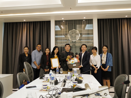 Appreciation Certificate given to 'College of Social Communication Innovation' SWU