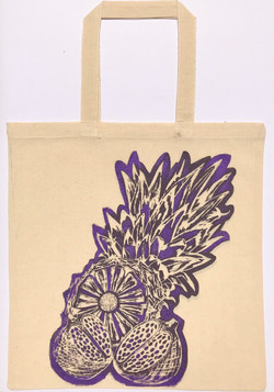 Pineapple bag purple