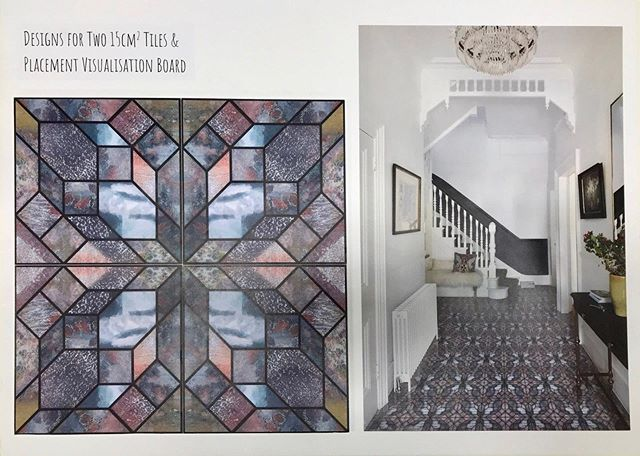 Design for floor tiles & visualisation
