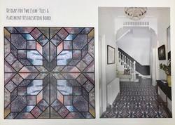 Design for floor tiles & visualisation