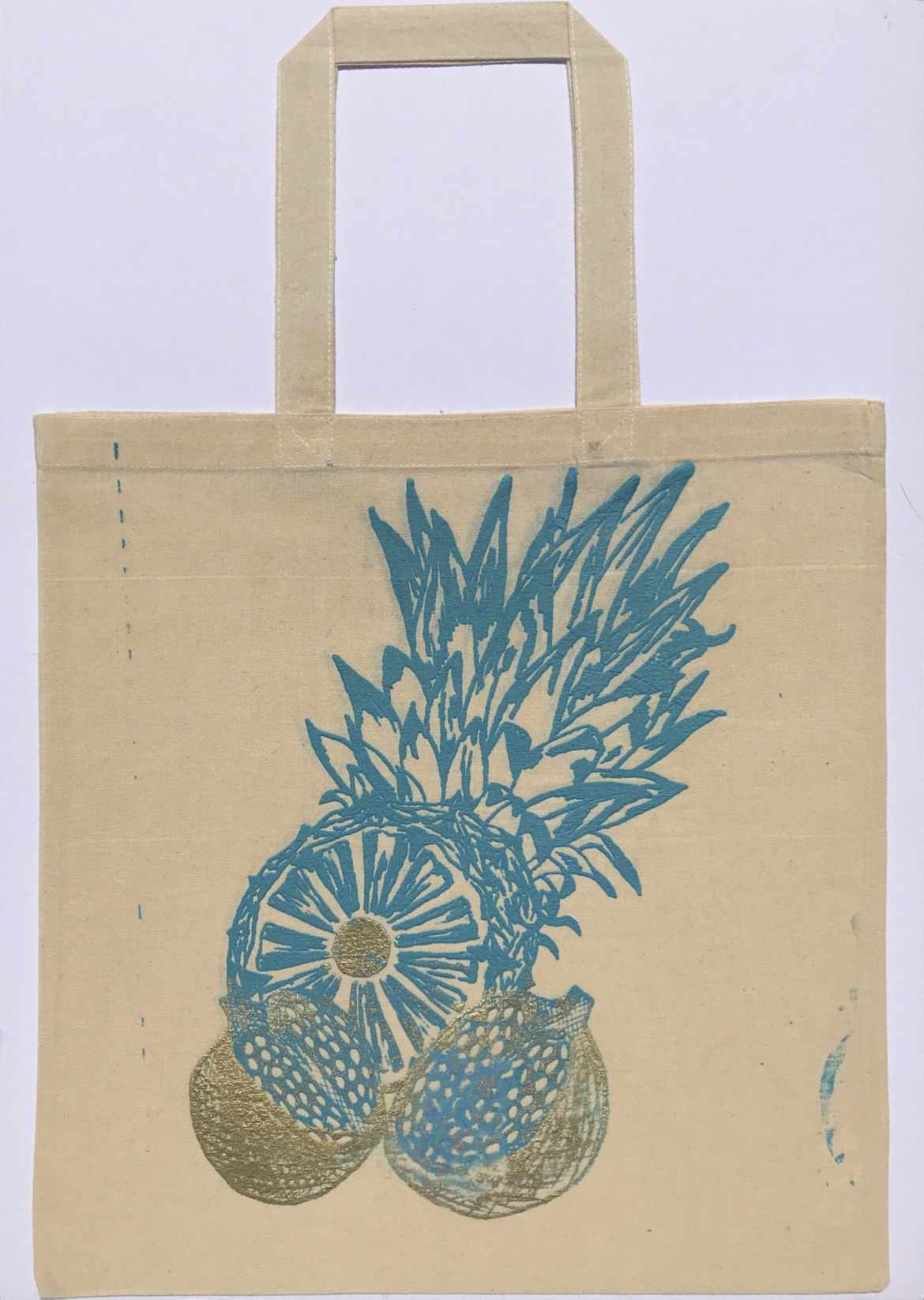 Pineapple bag blue
