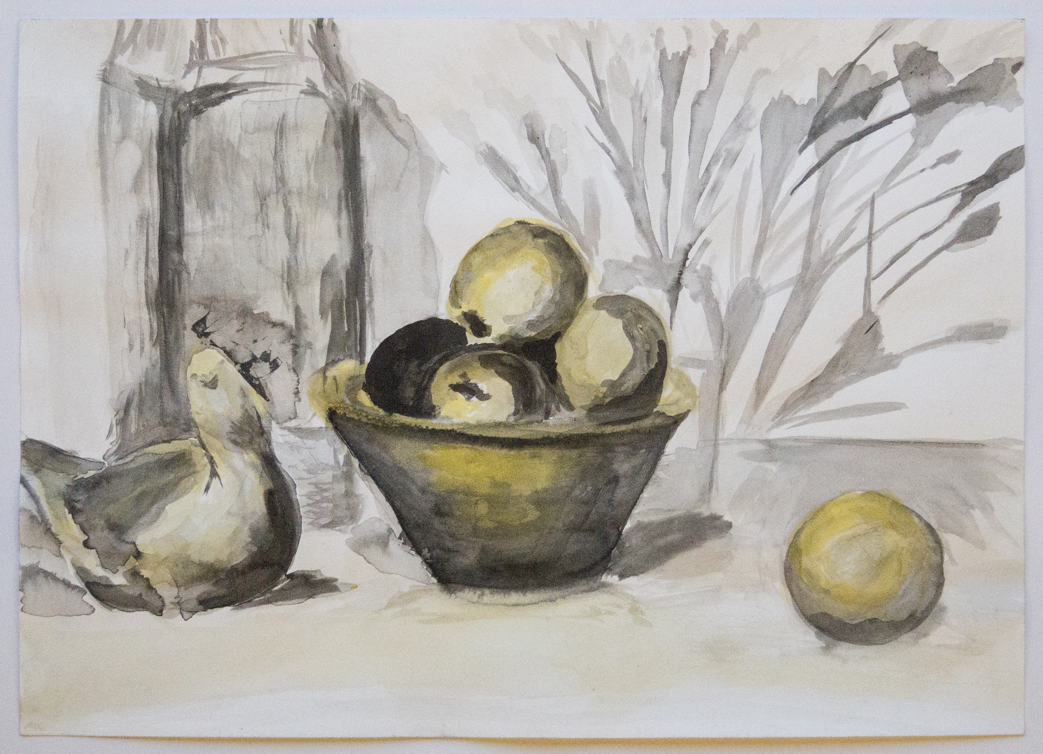 Apples and Ceramic Bird Still Life