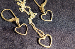 Hearts - Earrings and Necklace Set