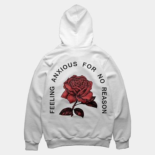 FEELING ANXIOUS - white hoodie